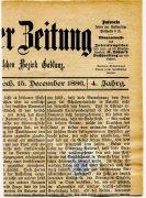 Rakousko 1886, celé noviny s kolkovou známkou 1Kr ULTRAMARIN, existují 3ks, tento s privivátní perforací je UNIKÁT !