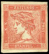 Rakousko 1856, Rumělkový Merkur neupotřebený - extrémně vzácný