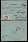 Rakousko 1867, doporučená obálka pro TELEGRAM vyplacená tříbarevnou frankaturou; UNIKÁT