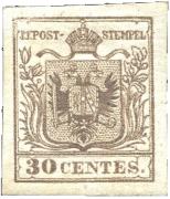 Lombardsko-Benátsko 1853, Veronský padělek ke škodě pošty, olivově hnědá