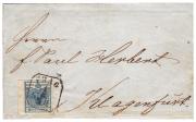 Rakousko, dopis Prvního dne - 1.6. 1850, z Prahy, významná rarita