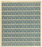 Rakousko 1851, Modrý Merkur, kompletní arch 100ks, existuji pouze 2 tyto archy