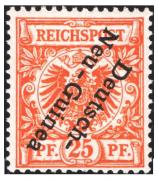 Německé kolonie - N. Guinea 1899, 25Pfg , obrácený přetisk