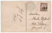 Německé kolonie - Karolinen 1910, přetiskové provisorium 5Pf/3Pf, převrácený ruční přetisk